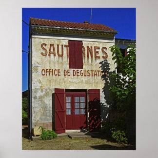 Sauternes Escritório de Degustation (degustação de Posteres