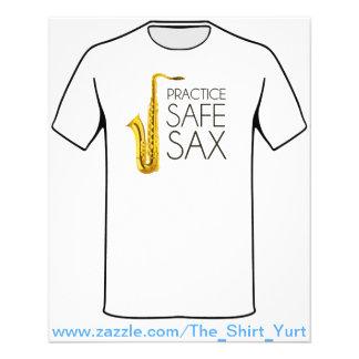 Saxofone do cofre forte da prática panfleto