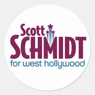 Schmidt para as etiquetas ocidentais do logotipo adesivo em formato redondo