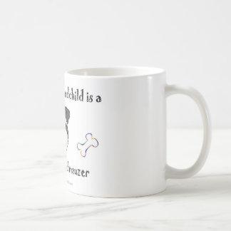 schnauzer diminuto caneca de café