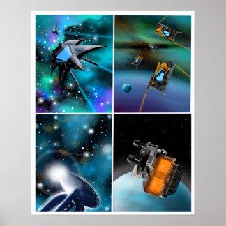"""""""Scifi através poster da galáxia"""""""