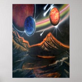 scifi/do cartaz apocalíptico pôster