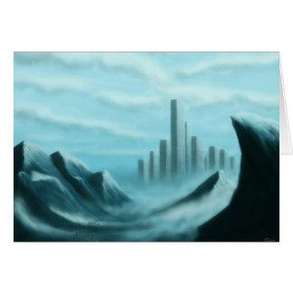 scifi do iceworld/notecard arte da fantasia cartão de nota