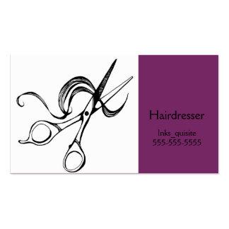 Scissors cartões de visitas do cabeleireiro