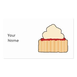 Scone do doce com cobertura de creme cartão de visita