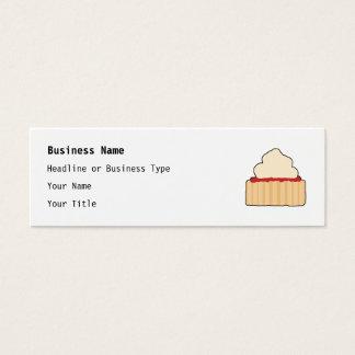 Scone do doce com cobertura de creme cartão de visitas mini