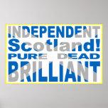 Scotland independente puro, inoperante, brilhante impressão