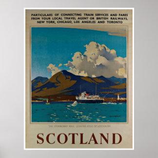 Scotland Kyle do poster das viagens vintage de
