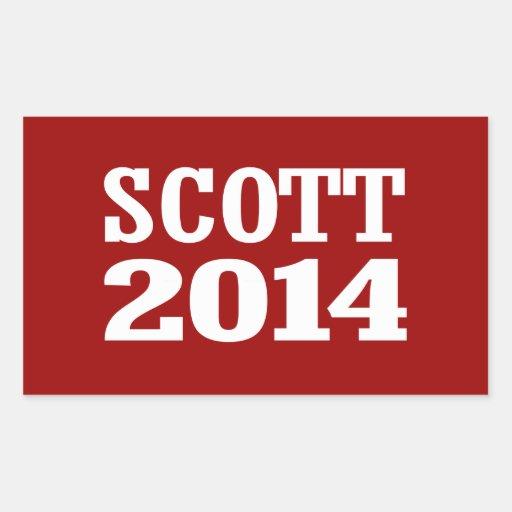 SCOTT 2014 ADESIVO EM FORMA RETANGULAR