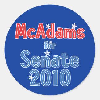 Scott McAdams para o design da estrela do Senado Adesivos Em Formato Redondos