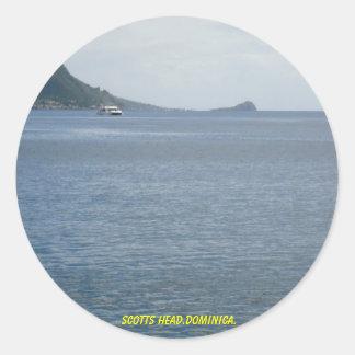 scotts dominica. principal adesivos redondos