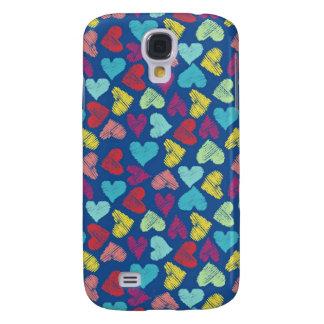 Scribble Heart Capas Samsung Galaxy S4