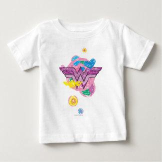 Scribbles coloridos da mulher maravilha t-shirt