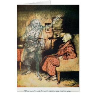 Scrooge e o fantasma de Marley Cartão