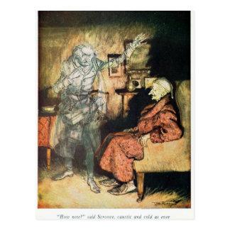 Scrooge e o fantasma de Marley Cartão Postal
