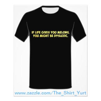 Se a vida lhe dá melões, você pôde ser Dyslexic Flyer 11.43 X 14.22cm