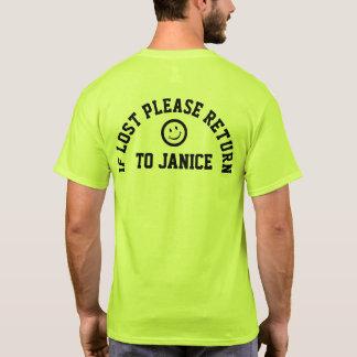 Se camiseta do retorno por favor perdida do slogan