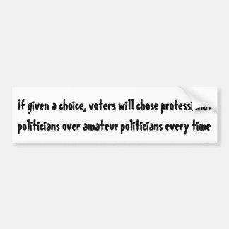 Se dado uma escolha, eleitores quer escolheu… adesivo para carro