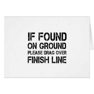Se encontrado na terra arraste por favor sobre o cartão