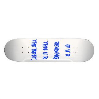 se u r que lê este u r o melhor shape de skate 19,7cm