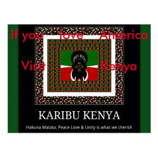 Se você ama o cartão de Kenya da visita de América Cartão Postal