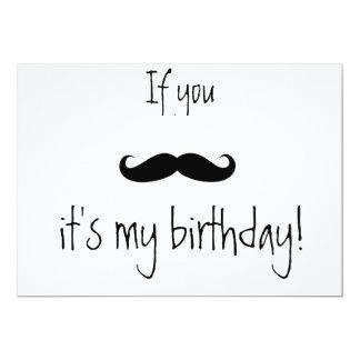 se você convite do aniversário do bigode