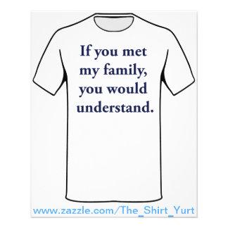 Se você encontrou minha família, você compreenderi flyer 11.43 x 14.22cm