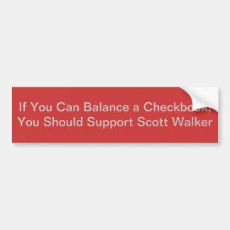 Se você pode equilibrar um livro de cheques adesivo para carro