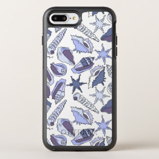 Seashells de Lavendar Capa Para iPhone 7 Plus OtterBox Symmetry