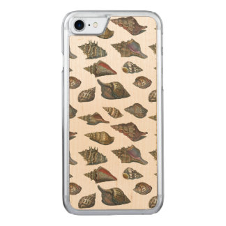 Seashells do vintage capa para iPhone 7 carved