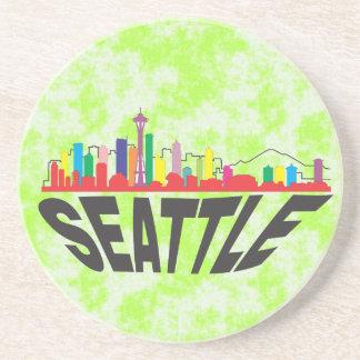 Seattle Porta Copos De Arenito