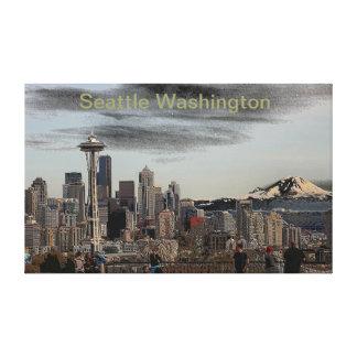 Seattle Washington espelhado Impressão Em Tela