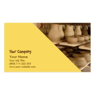 Secagem da cerâmica cartão de visita