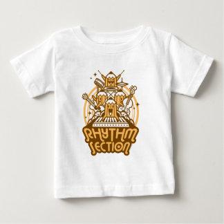 Secção de ritmo camiseta para bebê