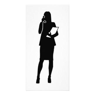 Secretário Cartão Com Foto