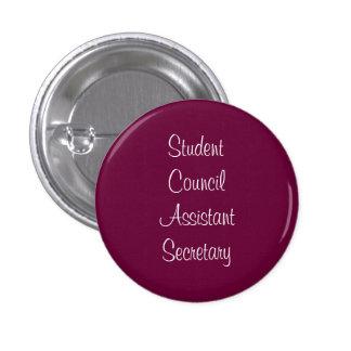 Secretário do assistente do conselho estudantil bóton redondo 2.54cm