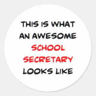 secretário impressionante da escola adesivo