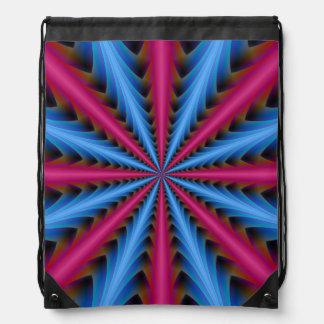 Segmentos do saco   de cordão 16 no rosa e no azul backpacks