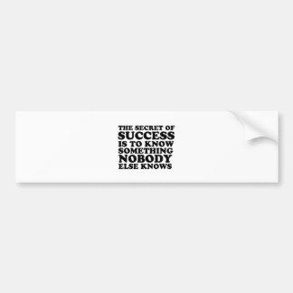 Segredo do sucesso adesivo para carro
