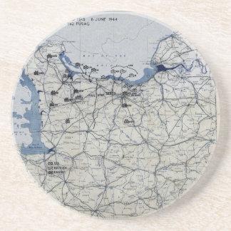Segunda guerra mundial dia D mapa 6 de junho de 19 Porta Copos De Arenito