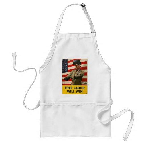Segunda guerra mundial do trabalho livre avental