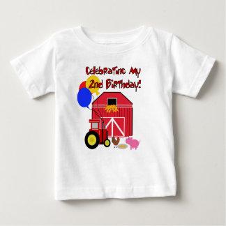 Segundo aniversário da fazenda camiseta
