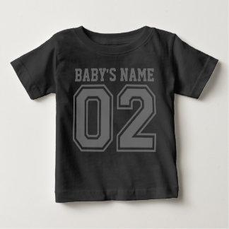 Segundo aniversário (o nome customizável do bebê) camisetas