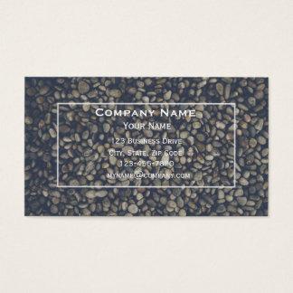Seixos e cartão de visita de pedra