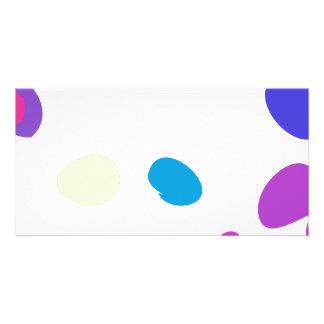 Seixos feitos sob encomenda da cor do fundo cartão com fotos personalizado
