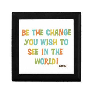 Seja a mudança que você deseja ver caixa de persentes
