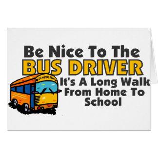 Seja agradável ao condutor de autocarro cartoes