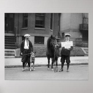 Seja amável aos animais Semana, 1923 Impressão