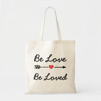 Seja amor, seja sacola amada da seta do coração bolsa tote