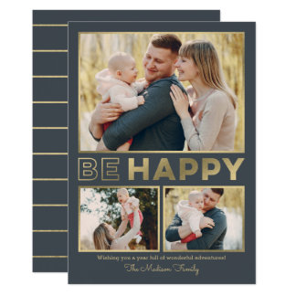 Seja cartão com fotos EDITÁVEL feliz do feriado da